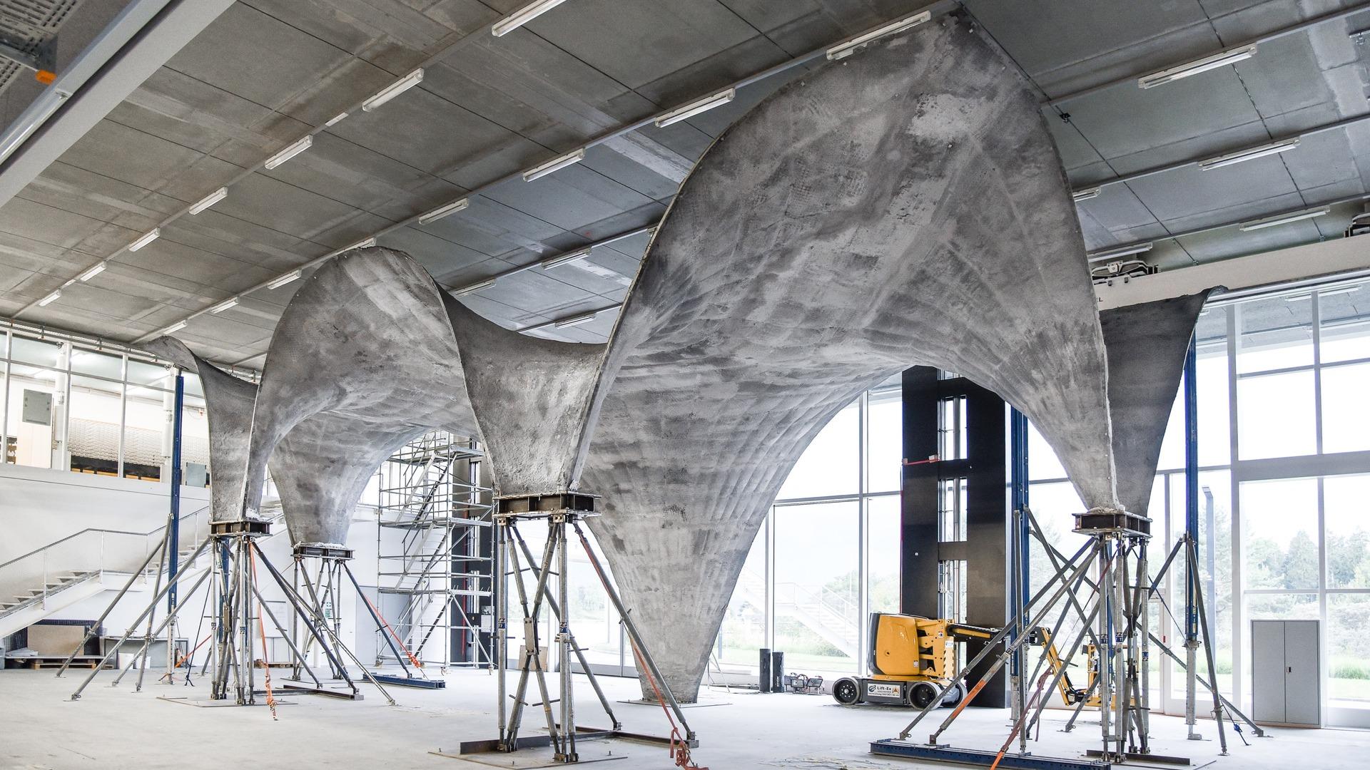 Costruire Tetto In Cemento hilo, il tetto in calcestruzzo super sottile per generare
