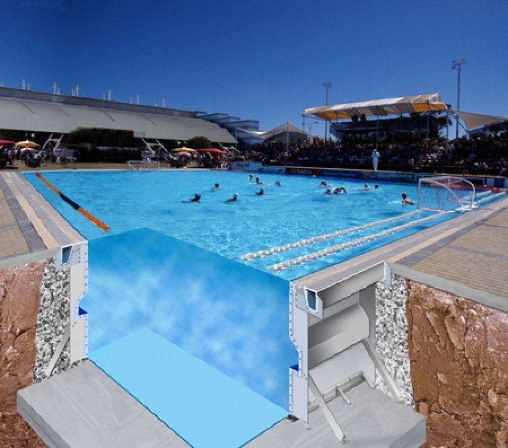 La tecnologia myrtha di piscine castiglione close up - Swimming pool structural engineer ...