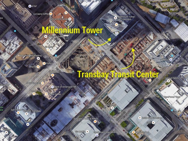 La Millennium Tower di San Francisco sta sprofondando