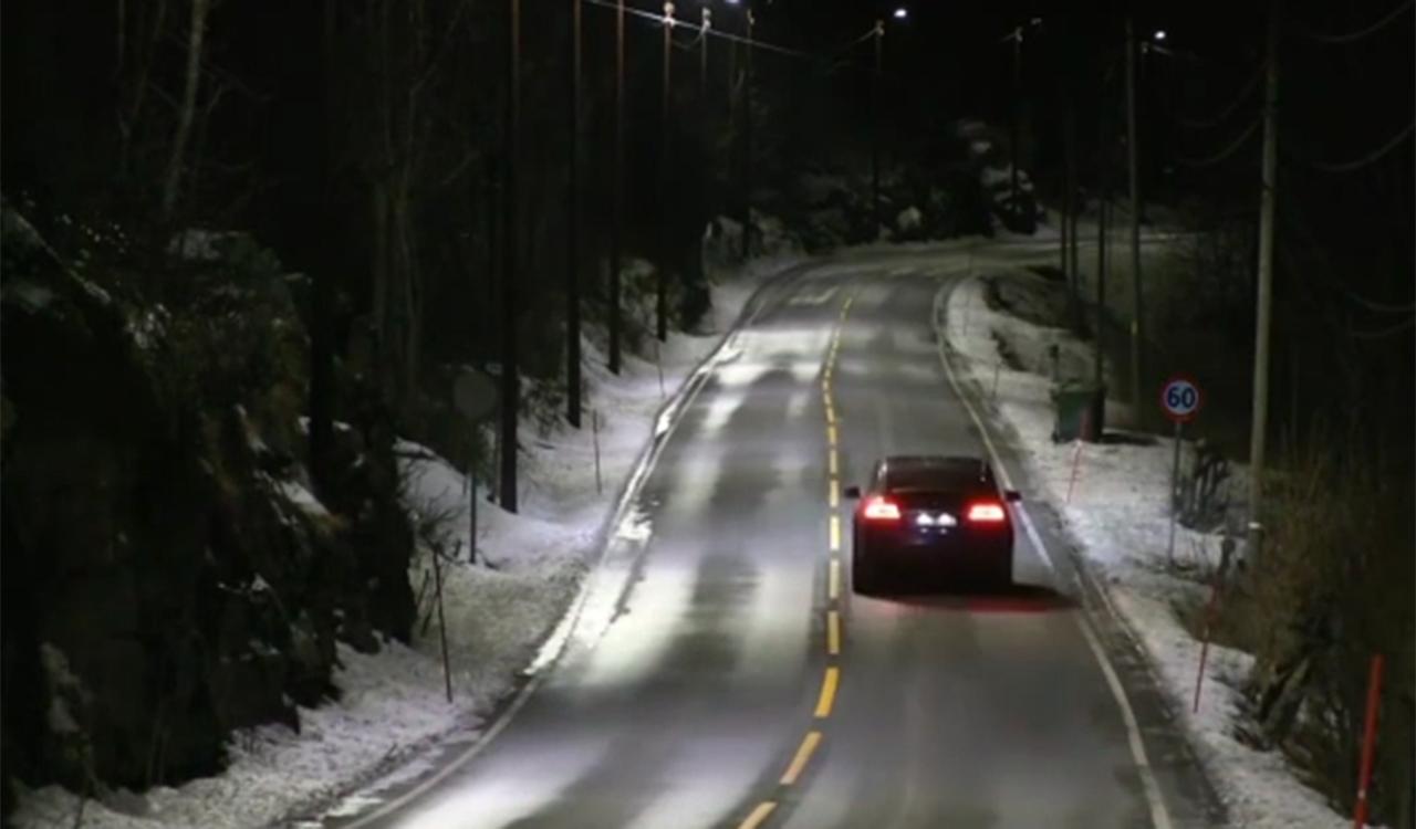 lampioni che si regolano in base al traffico, Norvegia
