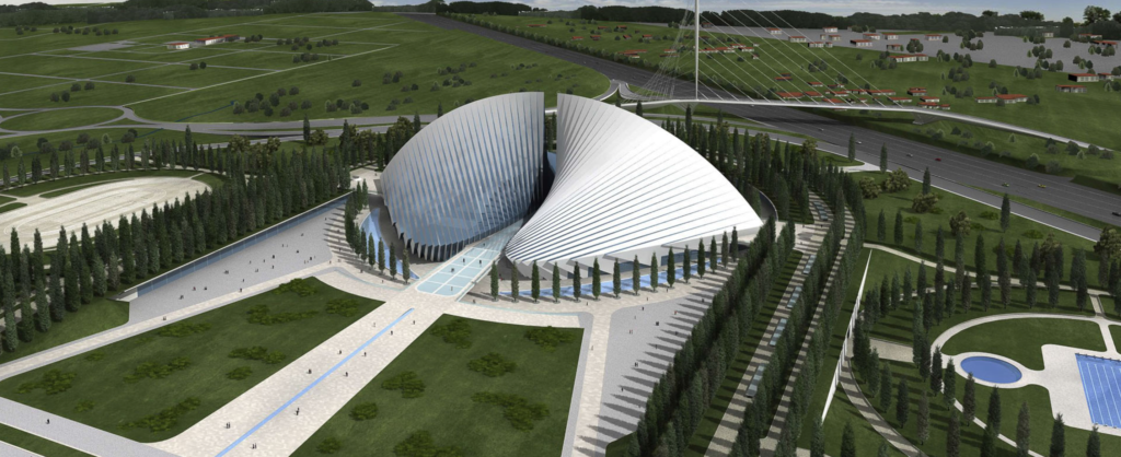 Vele di Calatrava, polo sportivo di Tor Vergata
