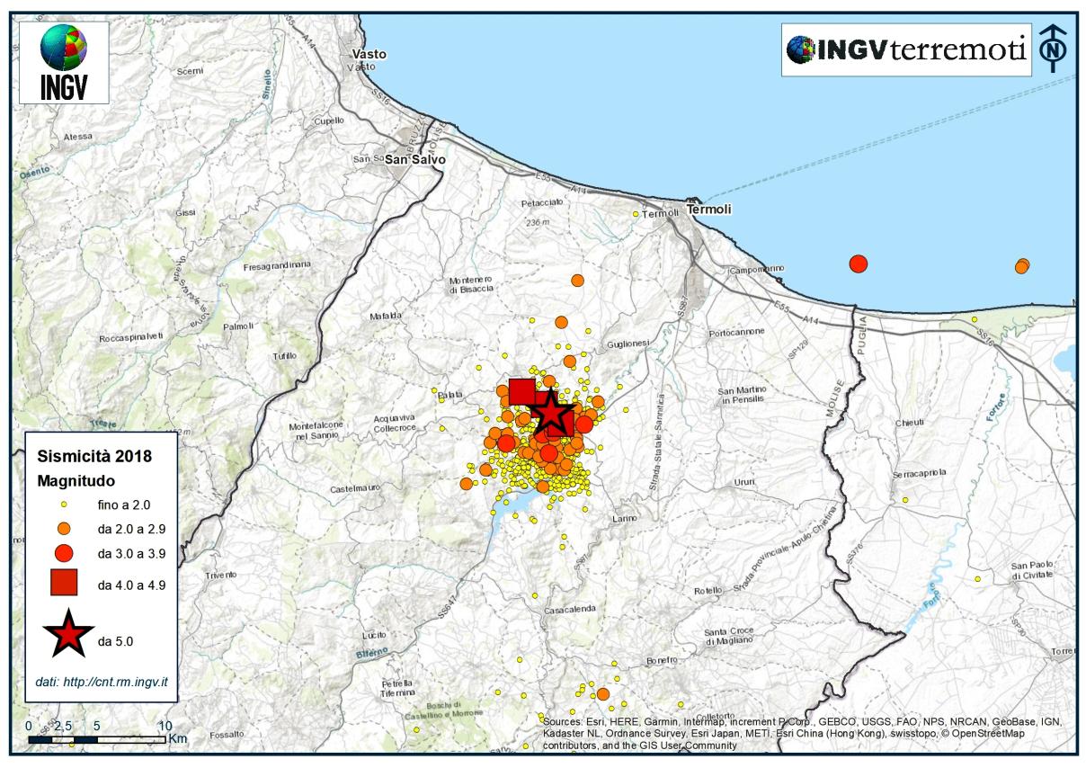 Nel 2018 in Italia ci sono stati 23.180 terremoti