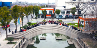 A Shanghai il ponte pedonale più lungo stampato in 3D