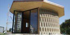 Gaia, la prima casa 3D realizzata con riso e terra cruda