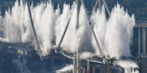 Come è stato demolito il ponte Morandi?