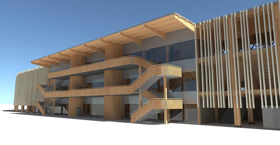 Stadi modulari in legno, il primo in Canada