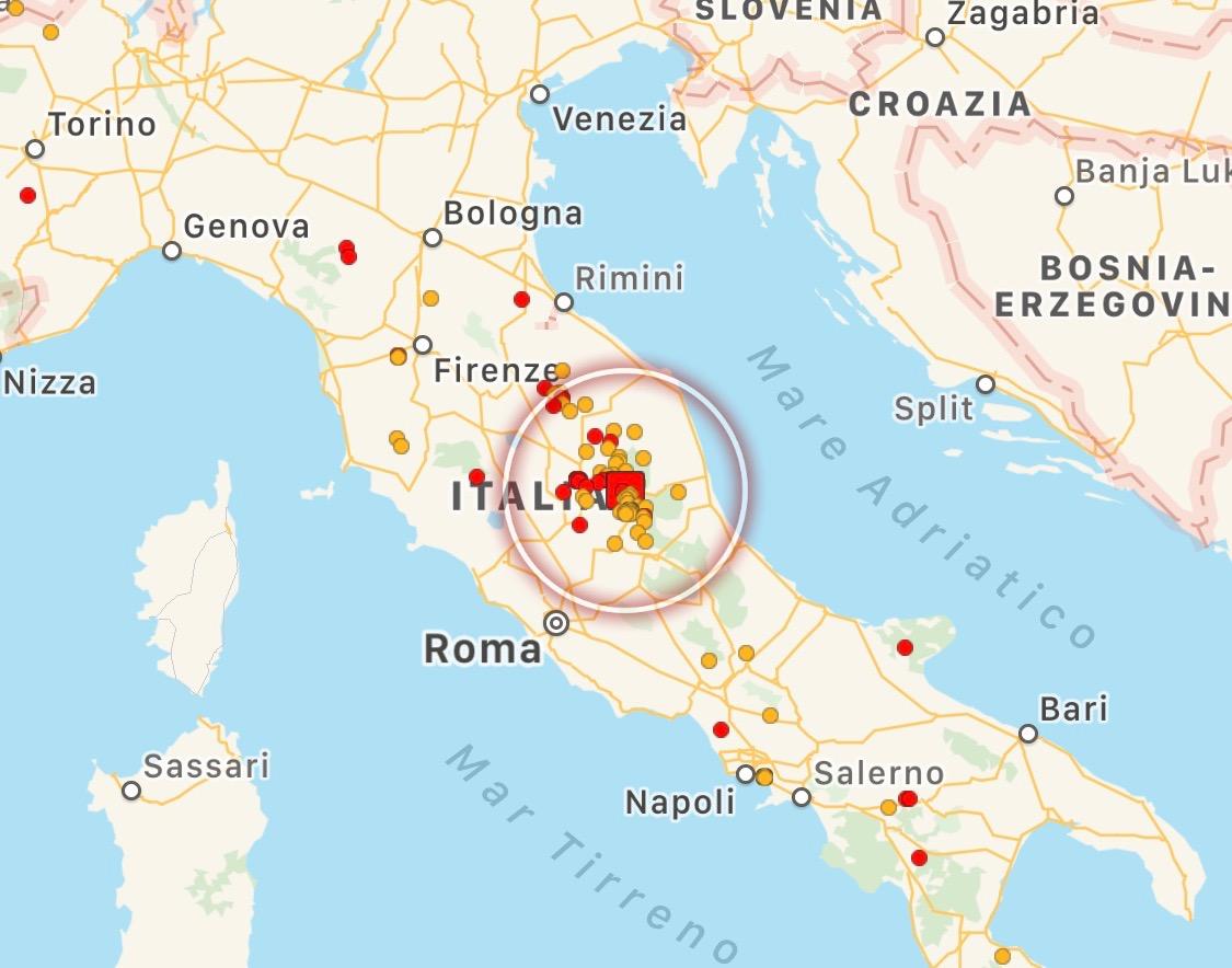 Terremoto in centro Italia, nuove scosse di magnitudo 4.1