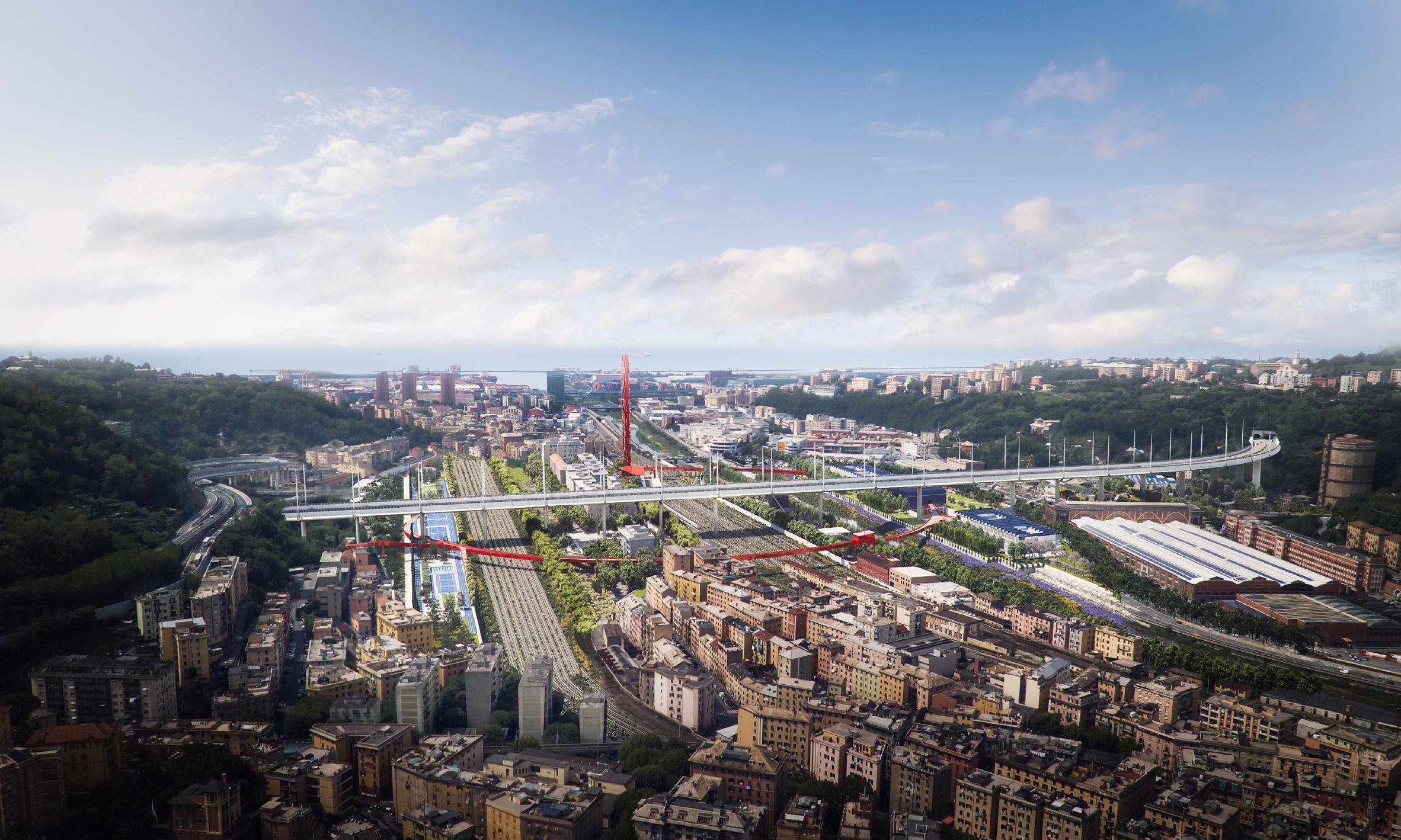 Il Parco del Polcevera, il progetto di Boeri per il parco sotto il ponte di Genova