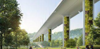Piloni antismog per il nuovo ponte di Genova