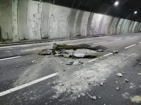 Ennesimo crollo in Liguria, cade la copertura di una galleria