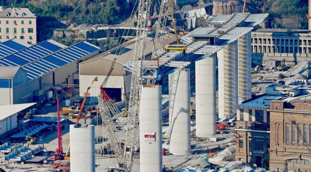 Nuovo ponte di Genova, posizionata la prima maxi trave