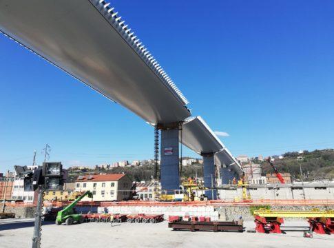 La Covid-19 non ferma la rinascita del ponte Morandi. Ph. commissario.ricostruzione.genova.it