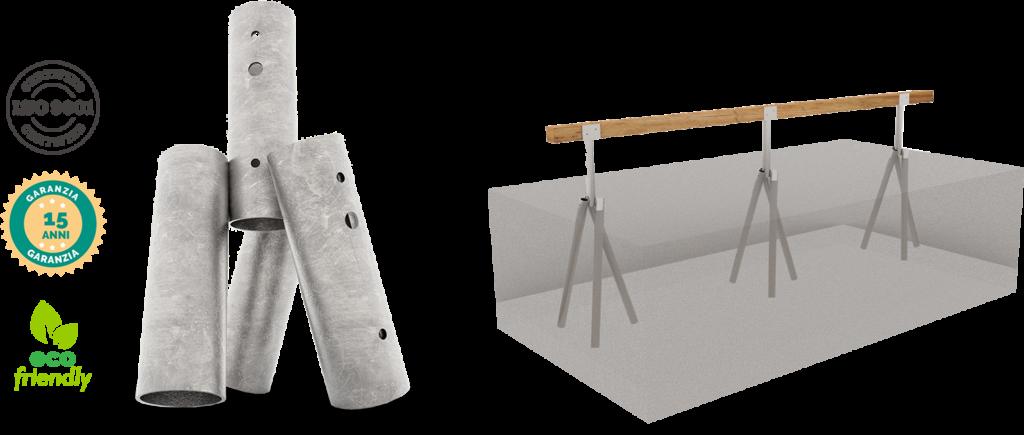 Bioedilizia: moduli in legno per presidi sanitari