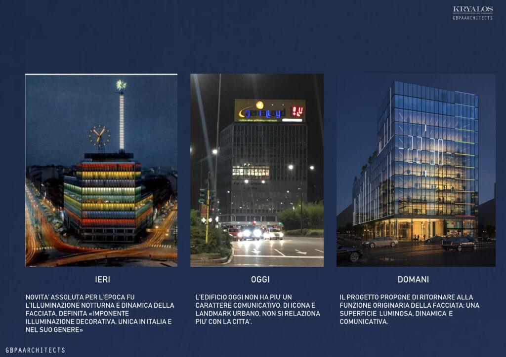 La facciata interattiva del Palazzo di Fuoco a Milano