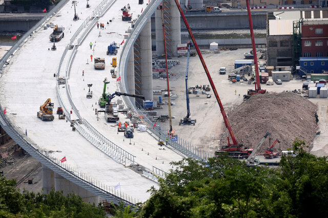 Il tracciato del Ponte Morandi non è a norma
