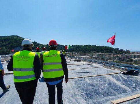 Nuovo ponte di Genova, inaugurazione fissata per il 3 agosto. Ph. telecitynews24.it