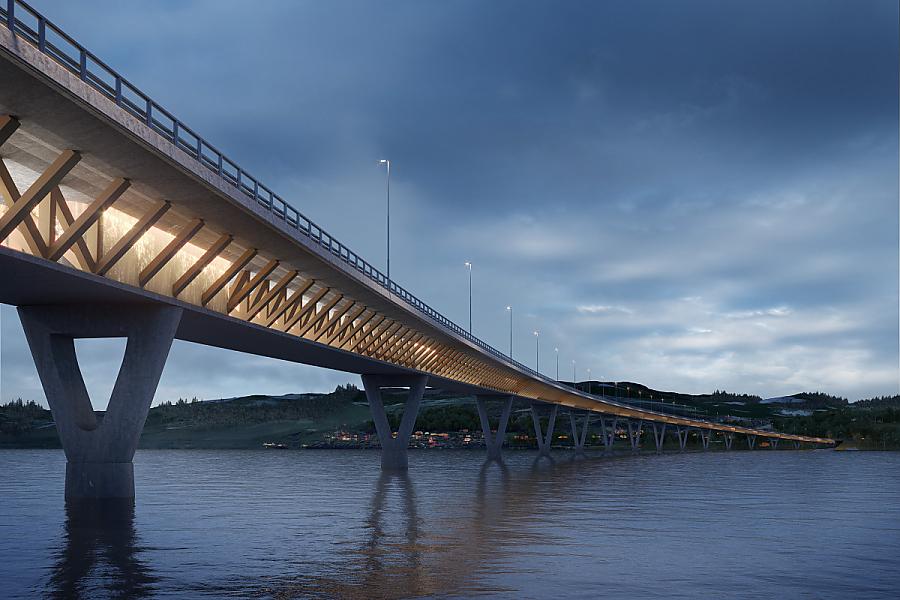 In Norvegia il ponte di legno più lungo al mondo