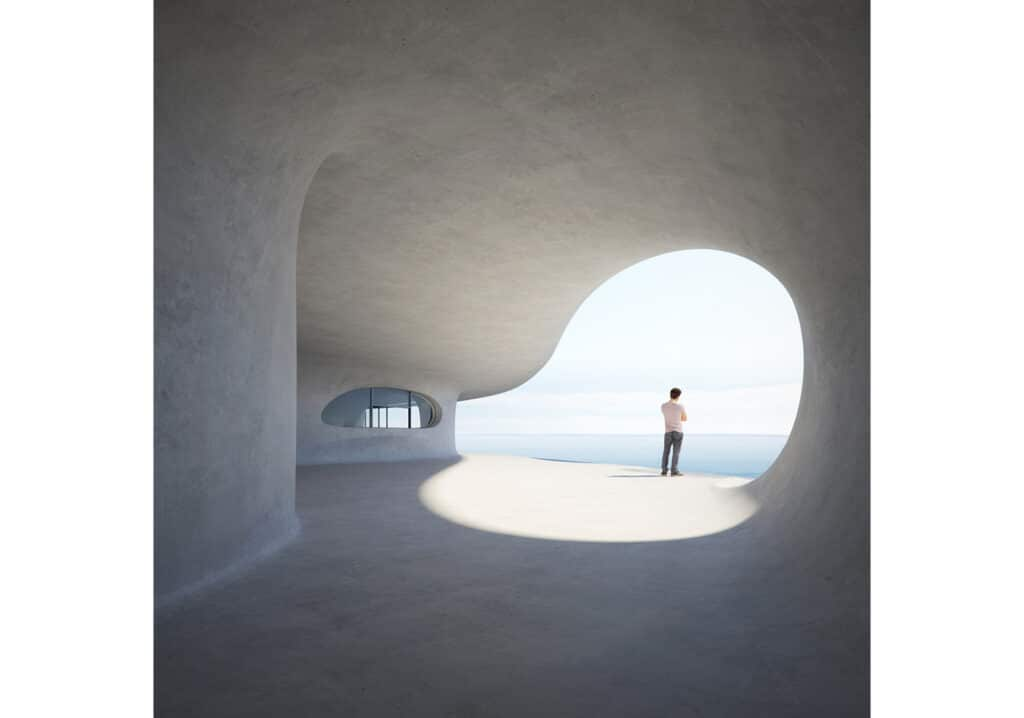La biblioteca amorfa in un'isola cinese
