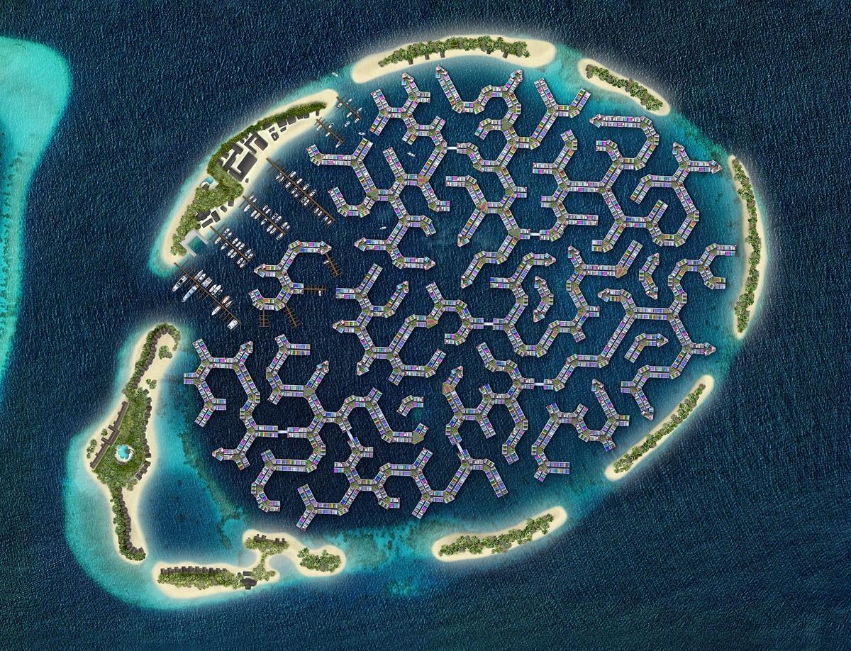 Maldives Floating City, la prima città galleggiante al mondo. Ph. maldivesfloatingcity.com